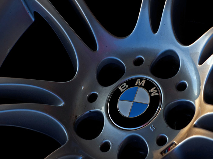 Close up of BMW wheels